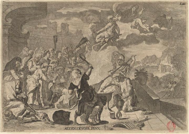 Anton Joseph von Prenner, 1728. Le sabbat des sorcières